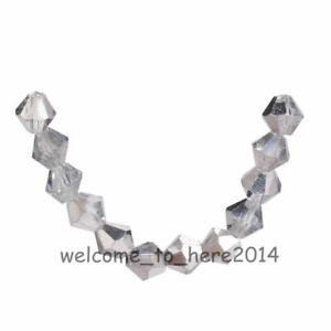 New Loose 200pcs Faceted Crystal Glass 5301# Bicone Spacer Beads 4mm 70 Colors