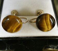 Vintage Genuine Tiger eye earrings