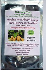Organic Pueraria mirifica - White Kwao Krua - 350mg x 60 Vegetarian Capsules