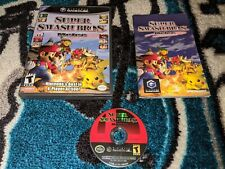 Super Smash Bros Melee (Nintendo GameCube, 2001) Black Label, Flawless disc!