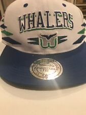 newest 0d6c1 c4c3c Vintage Hartford Whalers Snapback Embroidered Hat Cap Mitchell   Ness NHL