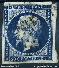 FRANCE EMPIRE N° 14 OBLITERATION PC 3171 ST LUBIN EN VERGONNOIS LOIR ET CHER