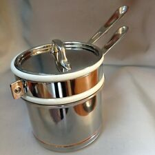New All Clad Copper Core Double Boiler, saucepan 1 1/2-Qt.  *FREE Ship