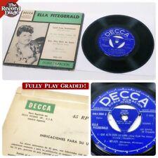 ELLA FITZGERALD Argentina EP on DECCA 2504 Vol 1 Doble Duracion JAZZ 4 song 45