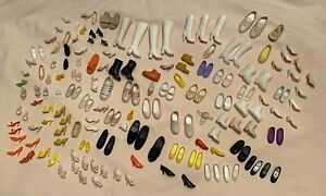 Lot of 170 Vintage BARBIE Doll Shoes, Boots, Heels, Flats, Francie Ankle Boots