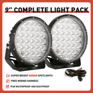 OSRAM NEW 9inch Spot Led Driving Work lights Round Black OffRoad 4x4 ATV UTE SUV