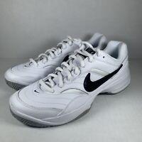 Nike Court Lite White Black Men's Tennis Shoes Sneakers 845021-100 Size 11 NEW