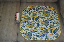 "Four Fruit & Floral Place Mats  16 5/8""  x13""  Cloth material Unused A-1"