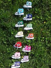 Babyschuhe (Chucks) selbst gehäkelt Colour Collection