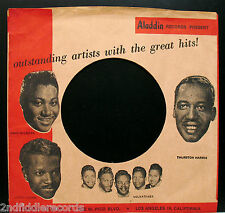 The Rarest ALADDIN Picture Sleeve w/Blues Artists Pictures-VELVATONES & More