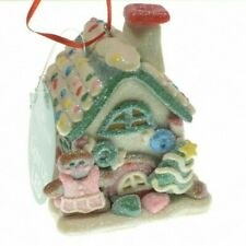 New ListingGingerbread House Led Christmas Tree Ornament Kurt S. Adler New (Pink Dress)