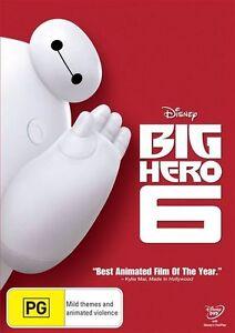 Big Hero 6 (DVD)  Disney - Region 4  - New & Sealed