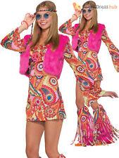 Hippy Fur-rever Groovy - Fancy Dress Costume Ladies 60s 70s Hippie Fur Outfit