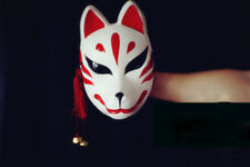 Japanese Hand-Painted Fox Mask Kitsune Cosplay Full Face Masquerade Halloween