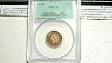 "1897 1c PCGS PR66RB Indian Cent (LOOKS LIKE A ""BROWN"" WITH NICE CAMEO CONTRAST!)"