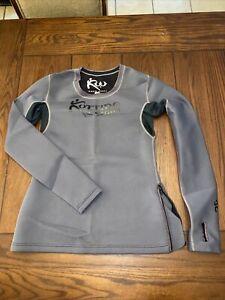 Medium Kutting Weight Sauna Suit Neoprene Long Sleeve Gray Top Women's CLEAN