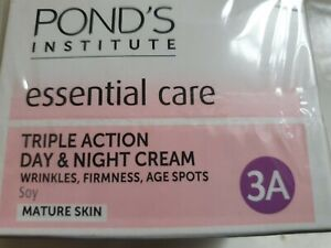 PONDS TRIPLE ACTION DAY & NIGHT FACIAL CREAM ANTI WRINKLE & ANTI AGEING 50ML