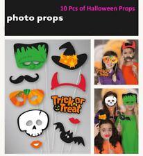 DOLCETTO o Scherzetto Halloween Photo Booth Materiale Di Scena 10 PZ Decorazioni Festa Divertente foto