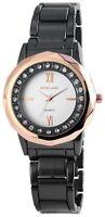 Damenuhr Weiß Rosègold Titan-Look Strass Analog Metall Armbanduhr X-152872500024