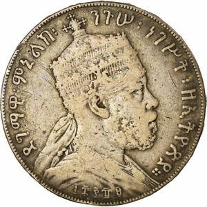 [#860460] Coin, Ethiopia, Menelik II, Birr, 1897, Paris, EF(40-45), Silver, KM:5