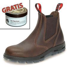 Redback Farm & Country Chelsea Work Boots Stiefelette UBJK Braun + Lederpflege