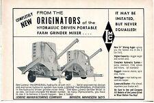 1967 Dealer Print Ad of Lorenz Manufacturing Co LMC Original Farm Grinder Mixer
