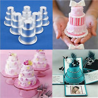 DIY Mini 3-Tier Cupcake Pudding Chocolate Cake Mold Baking Pan Mould Party Pop