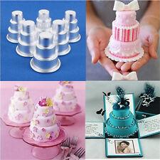 Hot DIY Mini 3-Tier Cupcake Pudding Chocolate Cake Mold Baking Pan Mould Party W