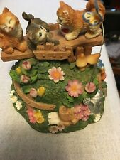 San Francisco Music Box Co. 3 Kittens Figurine Music Box Plays Its A Small World