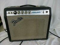 Fender Vibro Champ Amp 1970s Vintage Silverface Amplifier Power On Retro (JBC