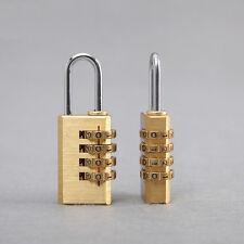 4 Digits Number Padlock Password Code Brass Combination Lock Password Lock