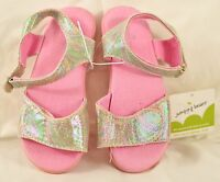 Toddler Jumping Beans sandal size 9 pink buckle ankle strap padded insole