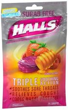 Halls Mentho-Lyptus Drops Sugar Free Honey-Berry 25 Each (Pack of 9)