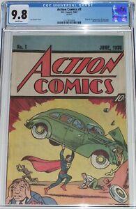 Action Comics #1 CGC 9.8 Nestle Quik Promotional from 1987 1st Superman reprint