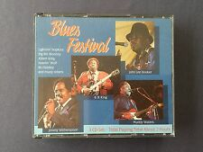 3 CD set BLUES FESTIVAL Broonzy King Wolf Diddey Hopkins - 2 hours playing time