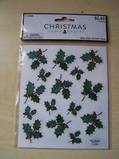 NEW - HOBBY LOBBY - PAPER CRAFTS - CHRISTMAS - HOLLY GLITTER STICKERS