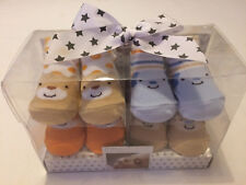 Pitter Patter - Luxury Baby 4 Pairs of Socks - Gift Box Set 4 Pack - 0-6 months