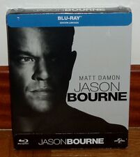 JASON BOURNE-BLU-RAY-STEELBOOK-NUEVO-NEW-MATT DAMON-*R2*-DESCATALOGADA-SIN ABRIR