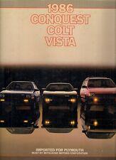 Plymouth colt vista conquête 1986 usa market brochure starion space wagon lancer