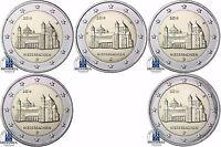 Deutschland 5 x 2 Euro 2014 Michaeliskirche Hildesheim Niedersachsen A D F G J
