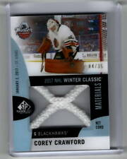 2017-18 SP Game Used Corey Crawford Winter Classic Net Cord 4/35 - Blackhawks