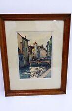 """André DUCULTY  """" Annecy """" aquarelle peinture tableau -  watercolour painting"""