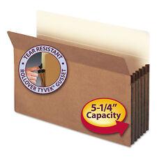 """Smead 5 1/4"""" Exp File Pocket Straight Tab Legal Manila/Redrope 10/Bx 74234"""