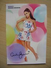 Ariana Grande,Autogrammkarte aus Bravo,Neu,Rar