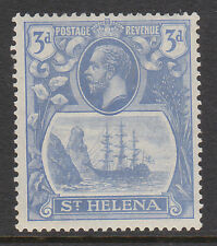 ST HELENA 1922 3d WITH BROKEN MAINMAST VARIETY SG 101a MINT.