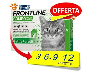 Frontline Combo Gatto  3 / 6 / 9 / 12 pipette - Antiparassitario Gatti - OFFERTA