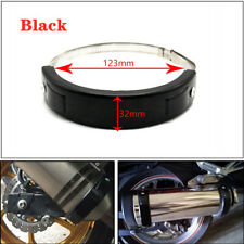 1x Motorcycle Oval Exhaust Protector Can Cover Black 100mm-140mm Steel Universal