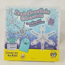 Creativity For Kids Beaded Snowflake Ornaments Kit Home School Arts Crafts