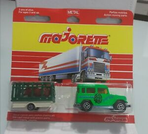 MAJORETTE SERIES 300 TOYOTA JEEP WITH LION CAGE MADE IN FRANCE DIECAST MINT