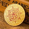 Gold Plated Mayan Aztec Prophecy Calendar Commemorative Coin Collection Gift YR